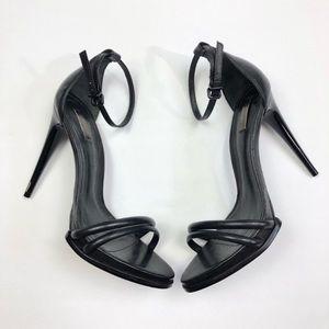 Schutz black strappy stiletto sandals
